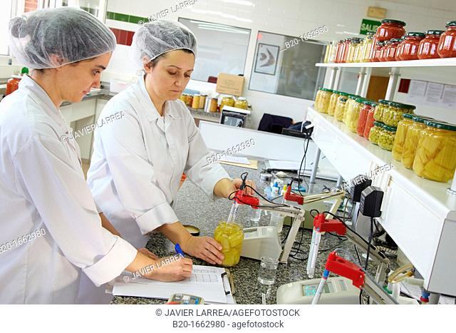 pH meter, Laboratory, Production of canned vegetables and beans, Canning Industry, Agri-food, Gutarra, Grupo Riberebro, Villafranca, Navarra, Spain