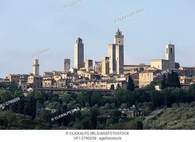 San Gimignano, Orcia Valley. Siena district, Tuscany, Italy