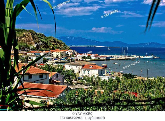 Sandy island of Susak harbor