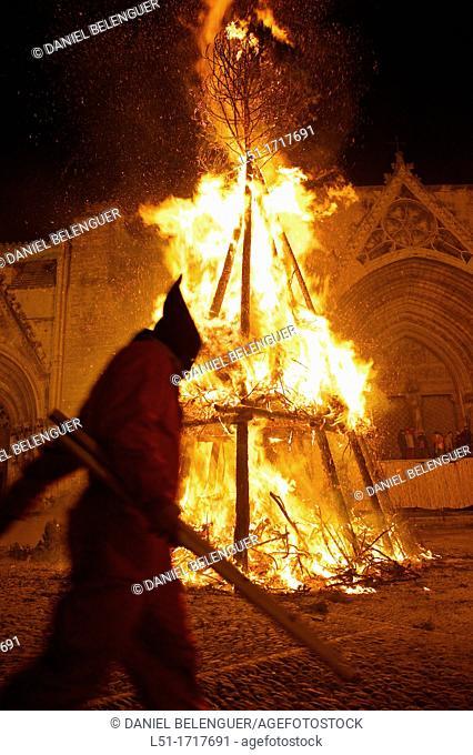 Devils during the San Antoni Festival in Morella, Castellon, Spain