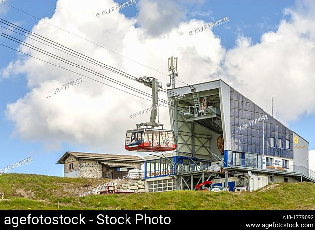 Piz Nair Funicular, St Moritz, Grisons, Switzerland