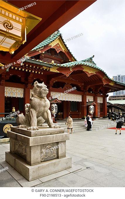 Statue at Kanda Shinto Shrine in Tokyo, Japan
