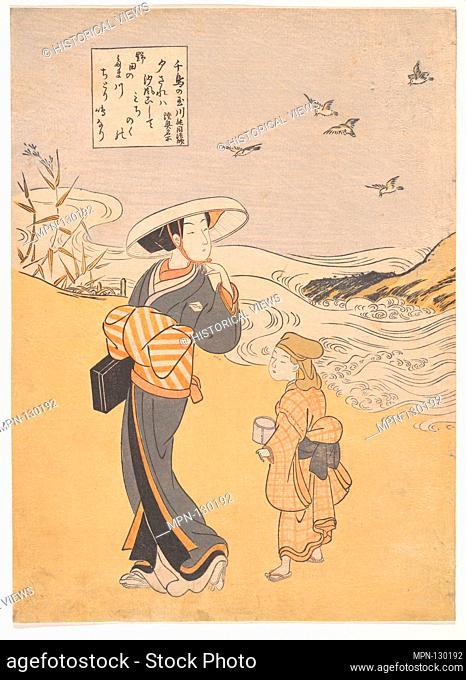 六玉川 「oƒé³¥ã®çŽ‰å·ã€€é™¸å¥¥åæ‰€ã€. Artist: Suzuki Harunobu (Japanese, 1725-1770); Period: Edo period (1615-1868); Culture: Japan; Medium:...