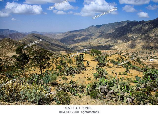 Mountain scenery along the road from Massawa to Asmara, Eritrea, Africa