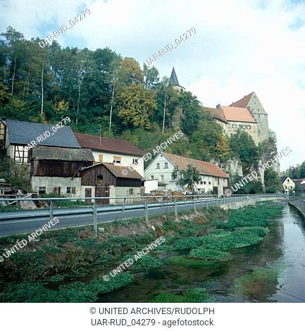 Reise durch Franken, Deutschland 1980er Jahre. Journey through Franconia, Germany 1980s