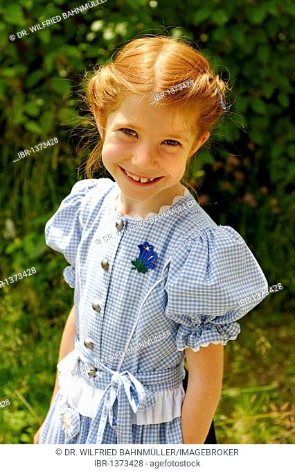 Girl with dirndl traditional dress