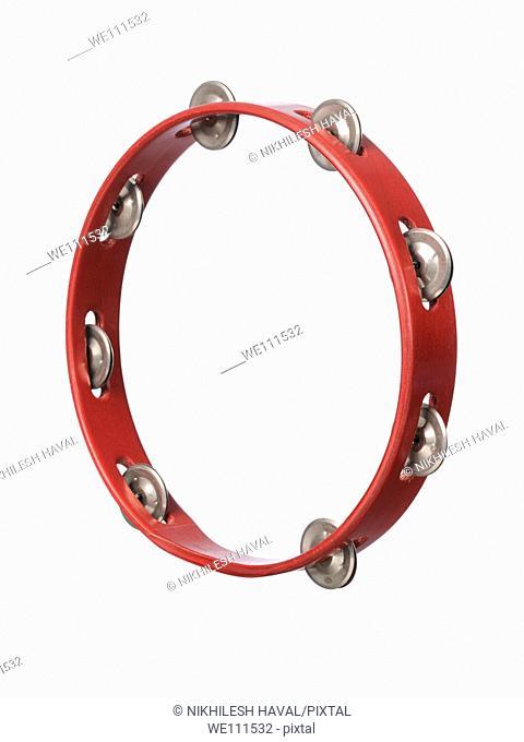 red headless tambourine
