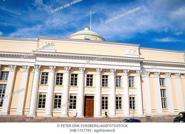Suomen Kansalliskirjasto the National Library of Finland 1840 by Carl Ludvig Engel along Unioninkatu street Kruununhaka district central Helsinki Finland Europe