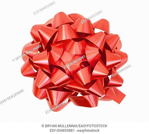 Red bow, includes clipping path