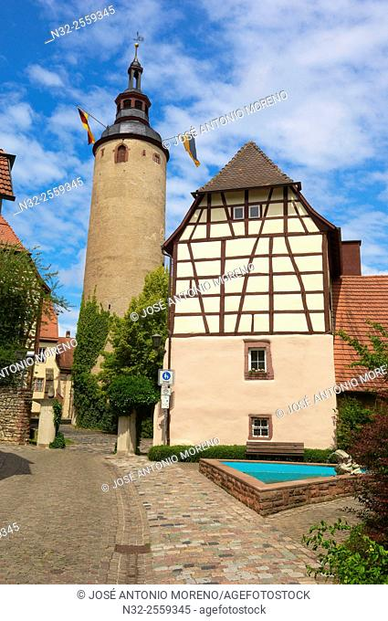 Kurmainzisches Schloss castle, Tauberbischofsheim, Baden-Wuerttemberg, Germany, Europe