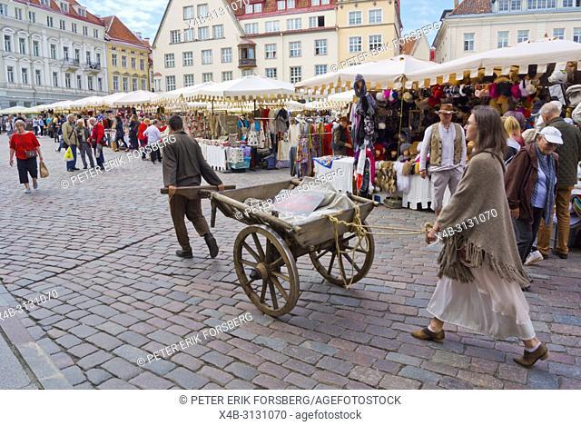Tallinn legends, promotional performance, Raekoja plats, town hall square, old town, Tallinn, Estonia