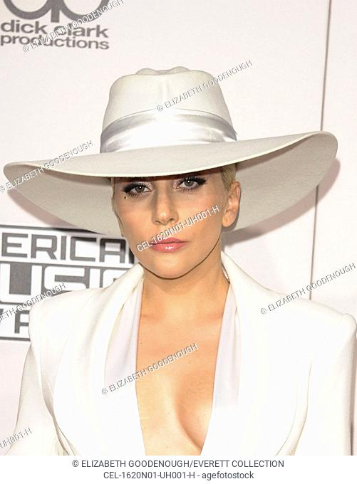 Lady Gaga at arrivals for 2016 American Music Awards (AMA's) - Arrivals, Microsoft Theater, Los Angeles, CA November 20, 2016