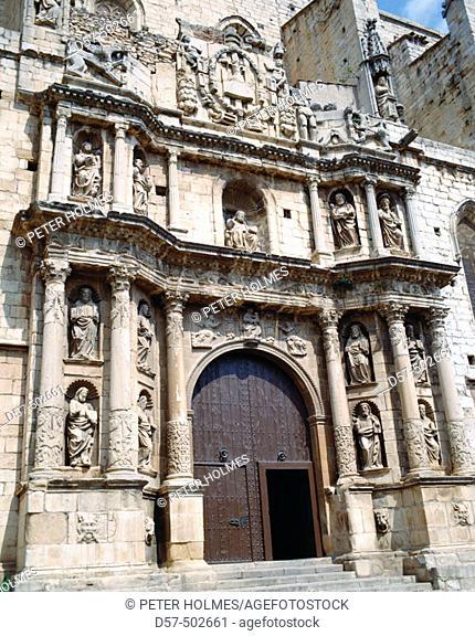Church of Santa Maria in Montblanc. Tarragona province. Catalonia. Spain