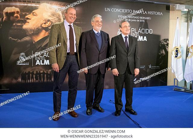 'Placido en el alma' charity concert at Santiago Bernabeu stadium Featuring: Placido Domingo, Bertin Osborne Where: Madrid