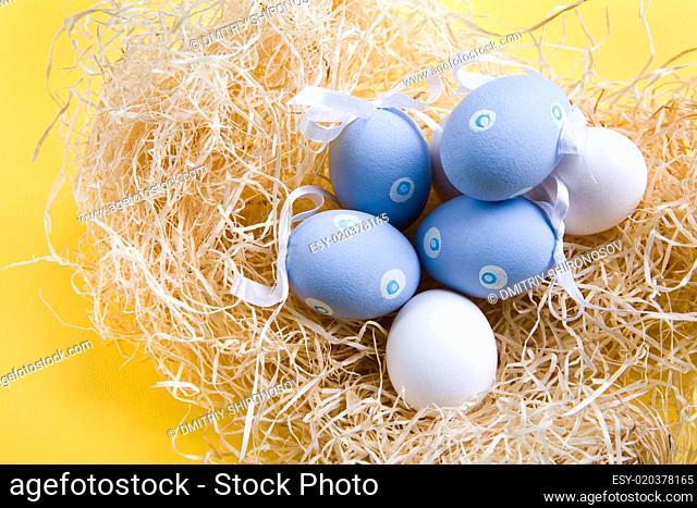 Several Easter eggs