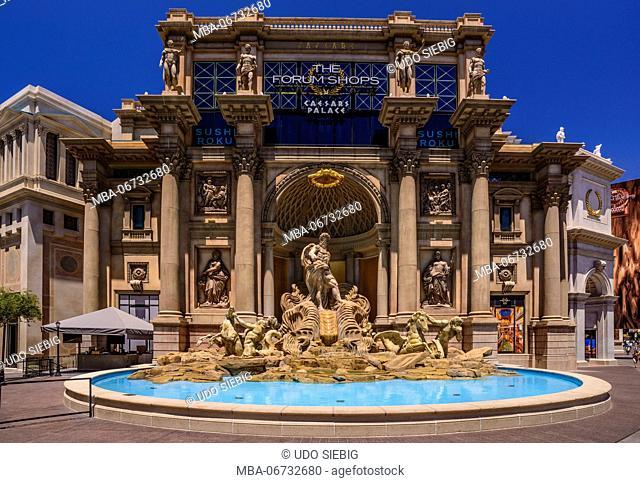 The USA, Nevada, Clark County, Las Vegas, Las Vegas Boulevard, The Strip, Caesar Palace, The forum shops, entrance