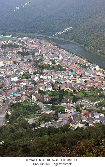France, Ardennes, Meuse River Valley, Montherme, town overview