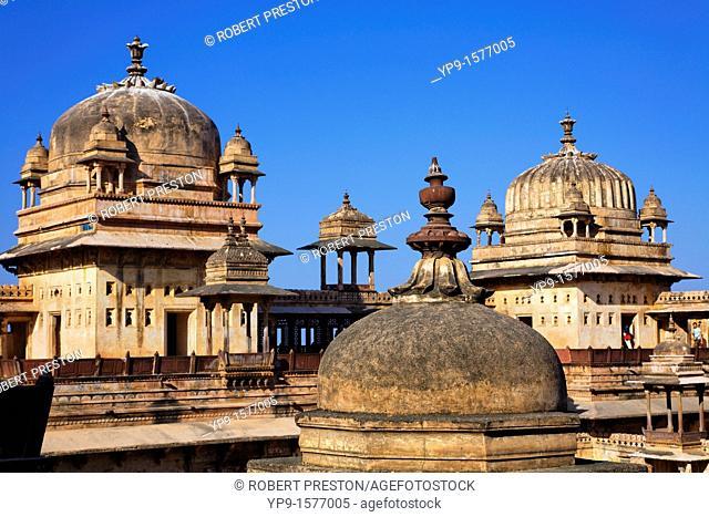 Domes of the Jahangir Mahal, Orchha, Madhya Pradesh, India