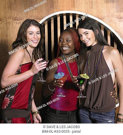 Group of female friends having drinks, Perth, Australia