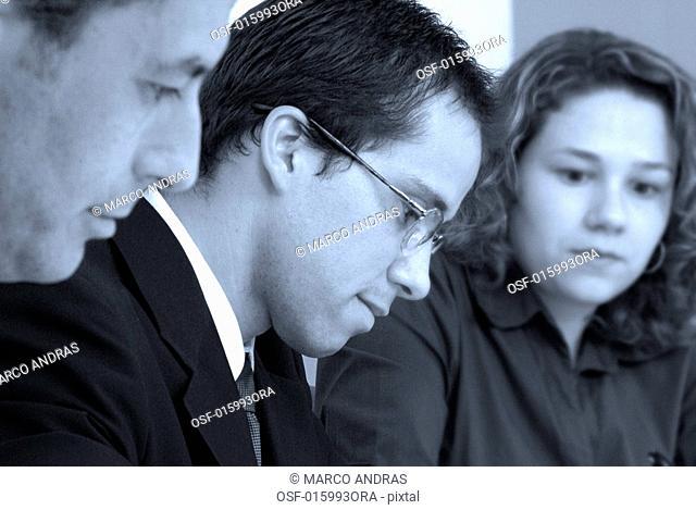 three people executives working