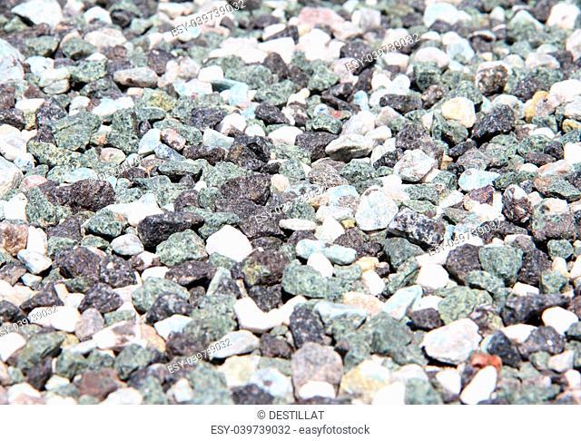 Granite small stones macro close up background