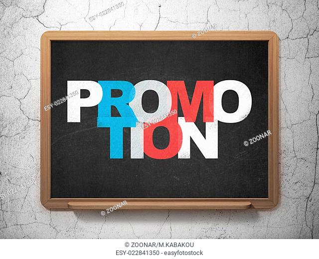 Marketing concept: Promotion on School Board background