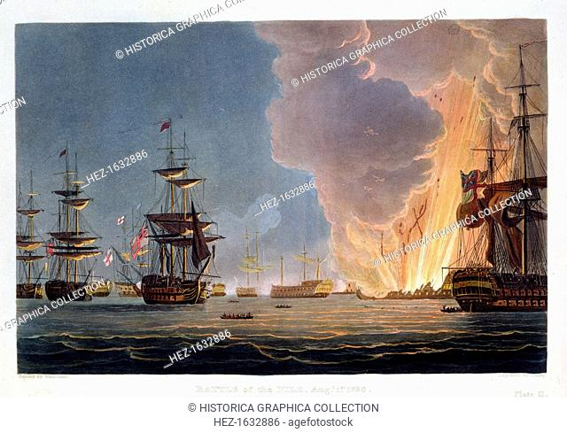 The Battle of the Nile, 1st August 1798 (1816). The British fleet under Nelson destroyed the French fleet in Aboukir Bay in a battle fought at night