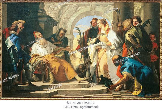 The Patron Saints of the Crotta Family by Tiepolo, Giambattista (1696-1770)/Oil on canvas/Rococo/c. 1750/Italy, Venetian School/Städtische Galerie im...