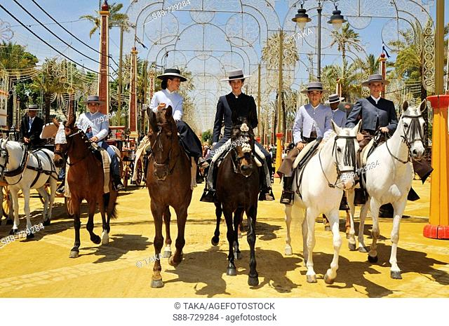Feria de Jerez. Cadiz province, Andalucia, Spain