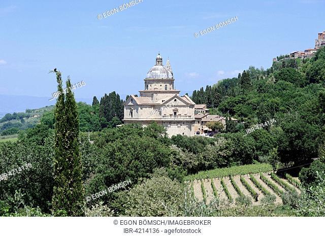 Madonna di San Biagio church, Montepulciano, Tuscany, Italy