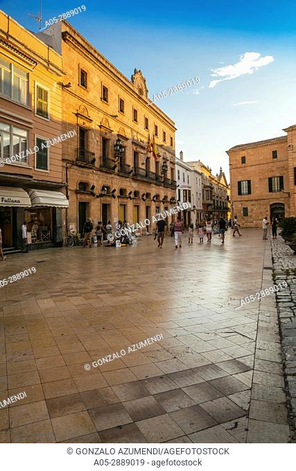 Historical Center. Ciutadella. Minorca. Balearic Islands. Spain