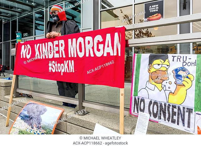 Kinder Morgan Die-in, outside Public Safety Canada office, Burnaby, British Columbia, Canada