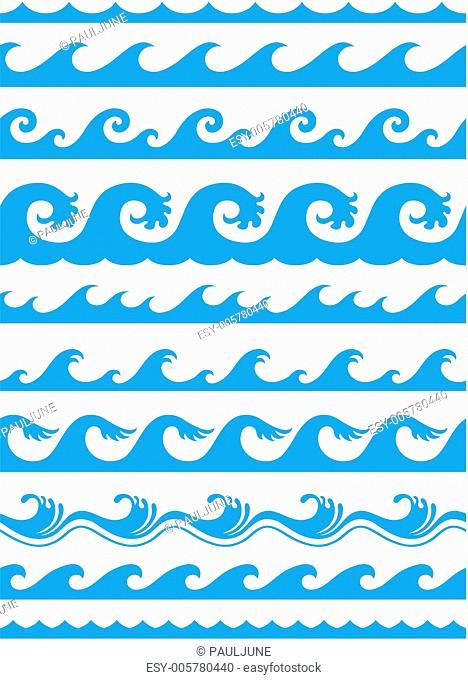 seamless ocean wave set
