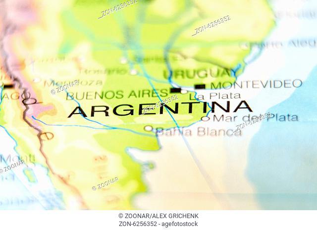 argentina country on map