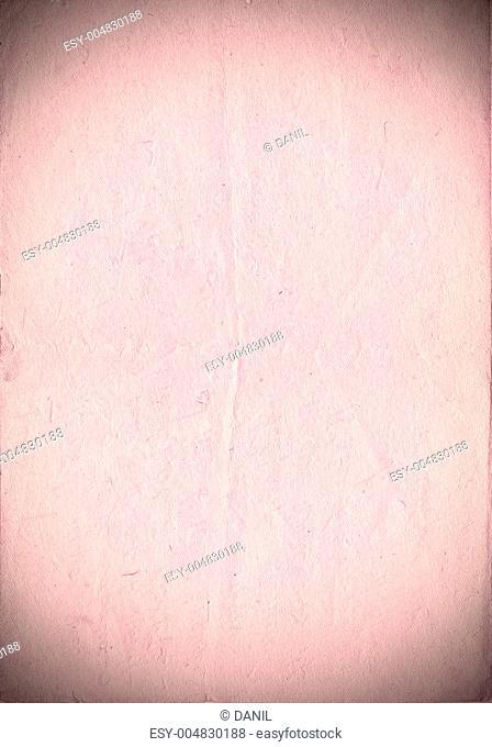 Vintage paper with vignette. Slight-rose color. Vertical orient