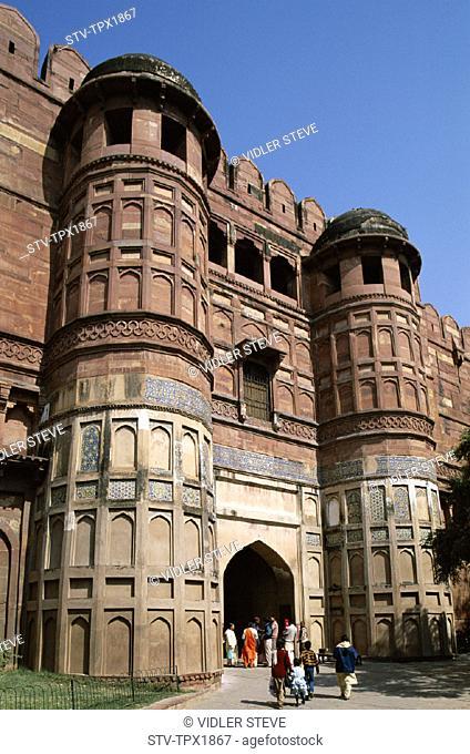 Agra, Entrance, Fort, Gateway, Heritage, Holiday, India, Asia, Landmark, Tourism, Travel, Unesco, Uttar pradesh, Vacation, World
