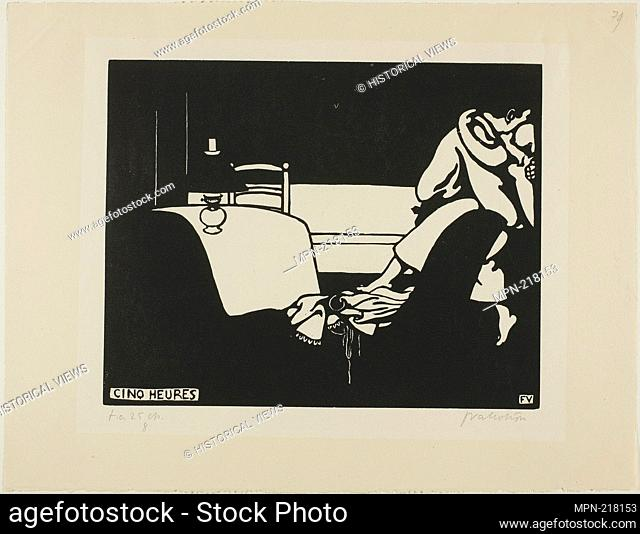 Five O'Clock, plate seven from Intimacies - 1898 - Félix Edouard Vallotton French, born Switzerland, 1865-1925 published by La Revue blanche - Artist: Félix...