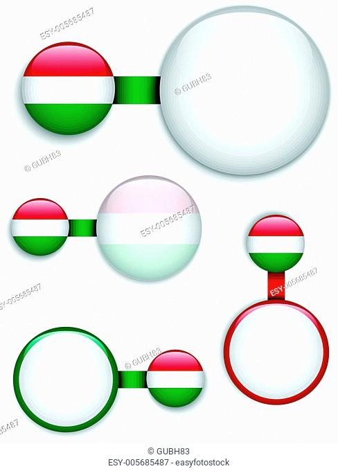 Vector - Hungary Country Set of Banners