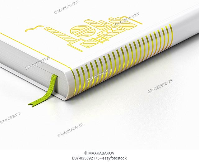 Industry concept: closed book, Oil And Gas Indusry on white background