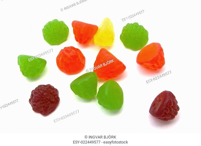Colorful fruits candy