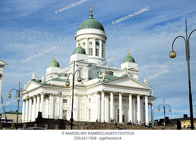 Lutheran cathedral in the Old Town of Helsinki, Finland