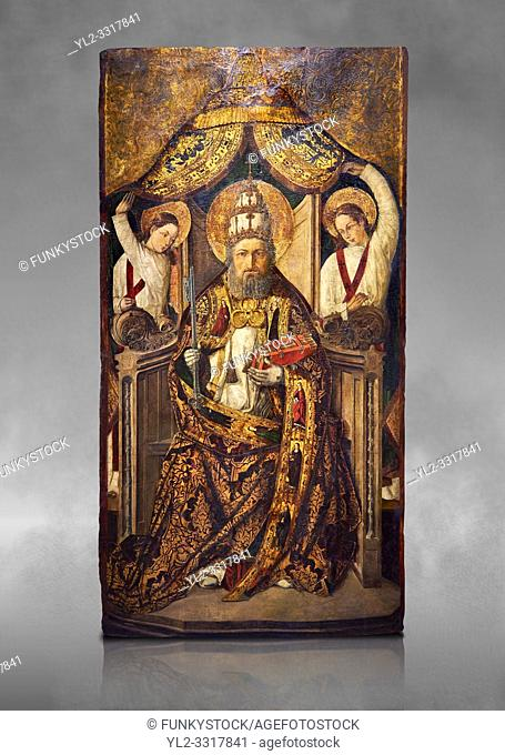 Gothic Catalan altarpiece of Saint Peter enthroned, by Roderic d'Orsona of Valencia, circa 1475, tempera and gold leaf on wood