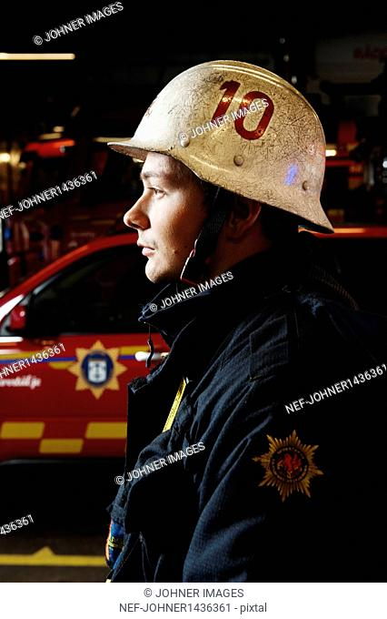 Profile of fire fighter