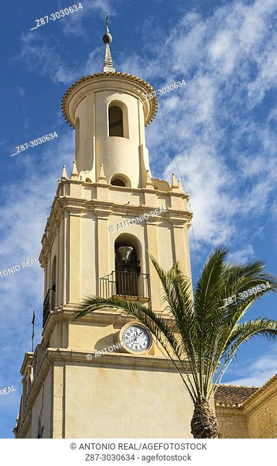 Iglesia de la Purisíma, church. Fortuna. Murcia Province. Spain