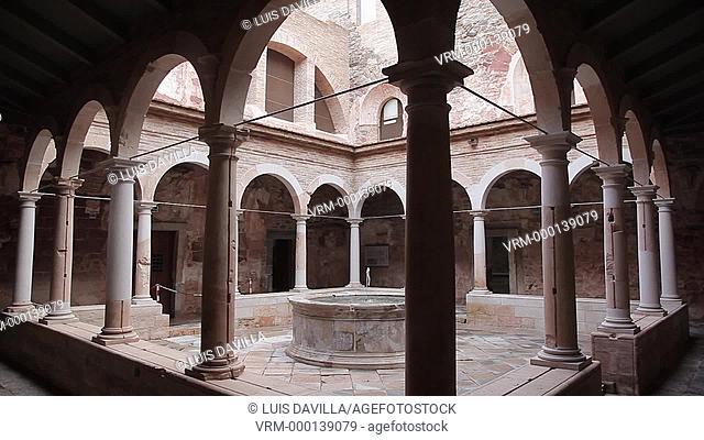 claustre of Carthusian Monastery of Escaladei, Tarragona. Spain