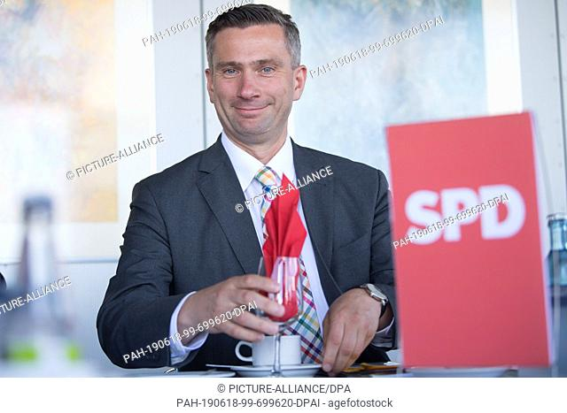 18 June 2019, Saxony, Dresden: Martin Dulig (SPD), Minister of Economic Affairs and Deputy Prime Minister of Saxony, sits in his seat at the beginning of a...