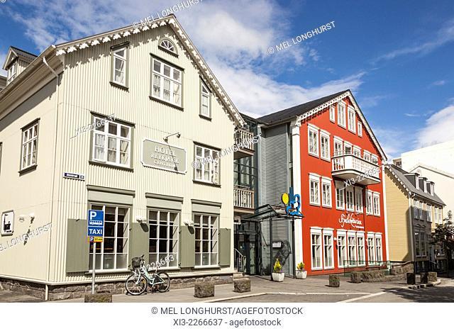 Hotel Reykjavik Centrum and Fjalakotturinn Restaurant, Adalstraeti, Reykjavik, Iceland