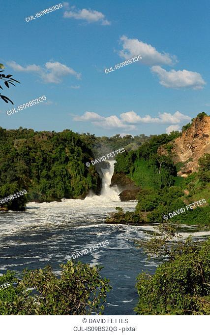 River Nile and the waterfall at Murchison Falls National Park, Uganda