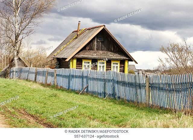 Traditional house, village Ozerevitchi, Russia, Eastern Europe