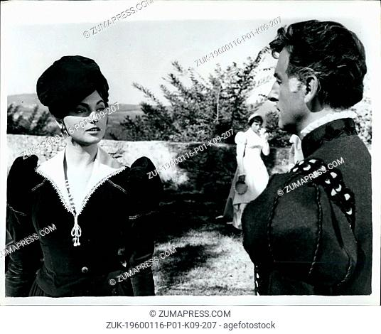 1968 - Stewart Granger and Sylvia Koscina filming in Rome: Starts of the new film 'The Mercencary'-now being made in Rome are British star Stewart Granger and...